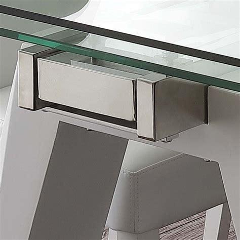 tavoli in vetro e acciaio tavolo allungabile in vetro acciaio inox e metallo bianco