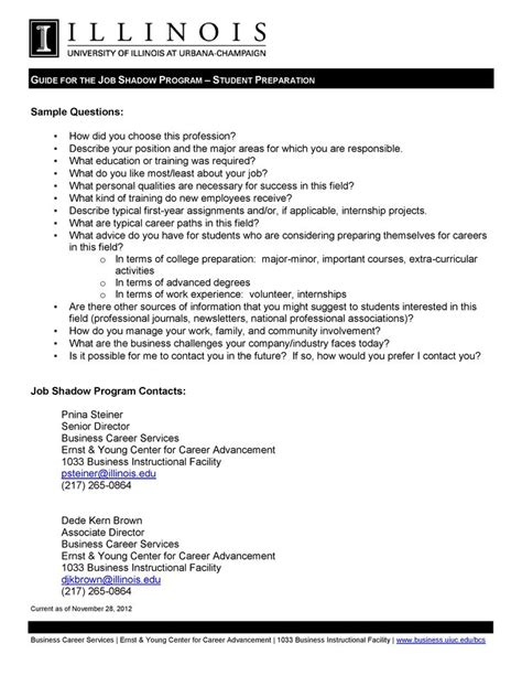 Cover Letter For Shadowing Here Is A List Of Sle Questions You Can Ask During Your Shadow Nifty
