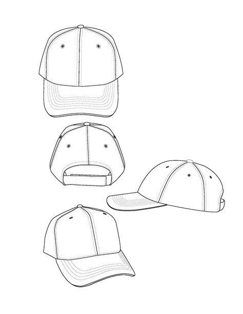 hat design template best photos of new era baseball hat template baseball