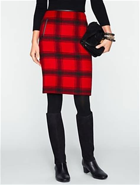plaid pencil skirt tights boots clothes i like