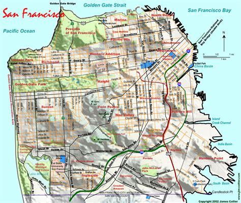 san francisco heightmap san francisco maps of municipal railway bays areas