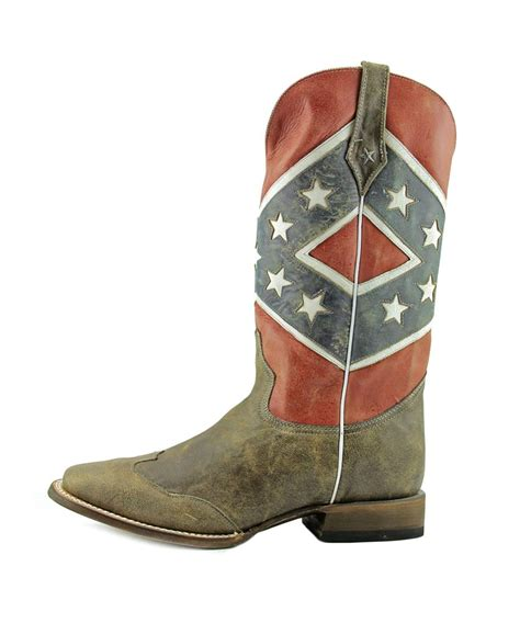 roper rebel flag 2e toe leather multi color