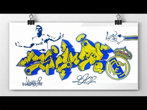 wallpaper graffiti real madrid drawing real madrid cr7 graffiti youtube