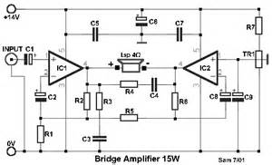 how to build collection of bridged power amplifiers circuit diagram