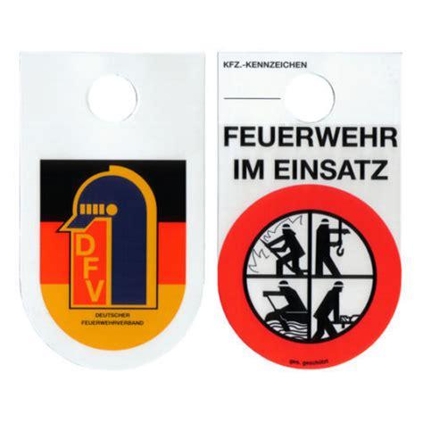 Kennzeichen Aufkleber Cc by Feuerwehrschild Kennzeichen Feuerwehr Im Einsatz Dfv
