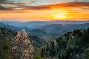 Photographers In Nashville Tn Great Smoky Mountains Spring Sunset Landscape Photography Photograph By Dave Allen