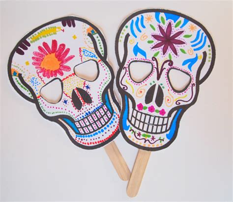 printable masks for day of the dead day of the dead printable masks fun family crafts