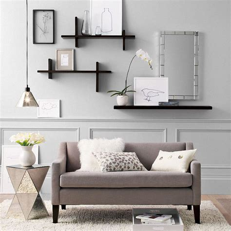 home decore furniture utilization of wall shelves as a versatile display and