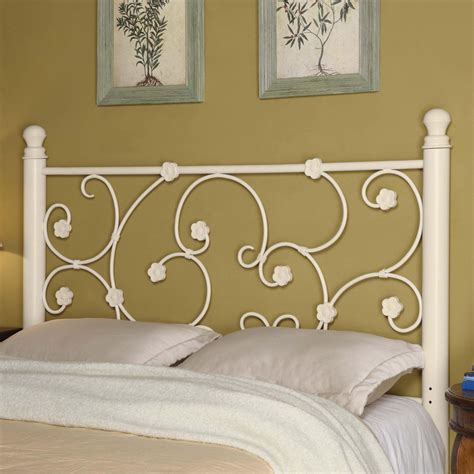 full white headboard iron beds and headboards full queen brown metal headboard