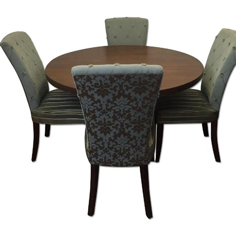 Pier One Dining Table And Chairs Aptdeco Used Pier 1 Dining Room Table And Chairs For Sale In Nyc