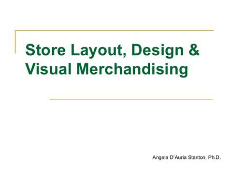 warehouse layout slideshare store design layout visual merchandising