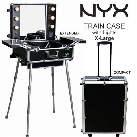 makeup train case with lights nyx makeup artist train case with lights x large