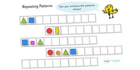 shape pattern eyfs twinkl resources gt gt repeating pattern worksheets shapes