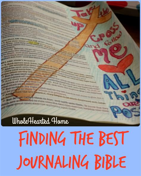 findings confirming the bible complete the greatest finding the best journaling bible wholehearted home