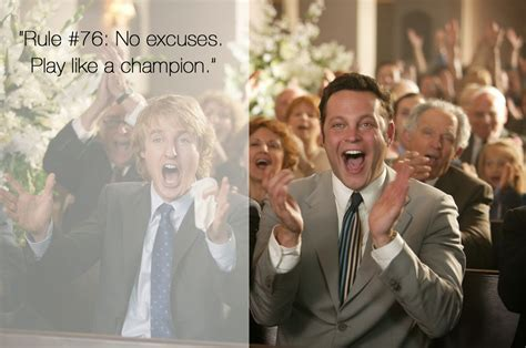 Wedding Crashers One Liners by Joining The Green Fashionista