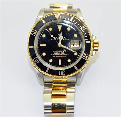 Rolex Classical Combi Black Gold rolex submariner 18k gold and stainless steel black on oyster bracelet s