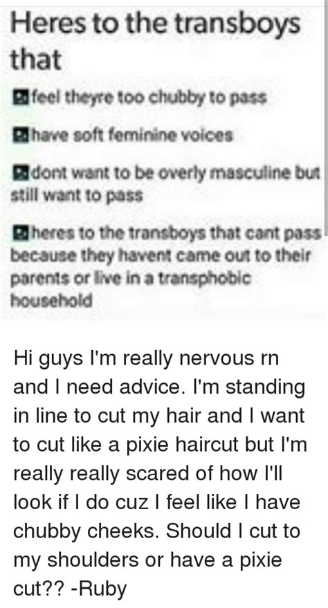 pixie haircut for chubbies heres to the transboys that gfeel theyre too chubby to