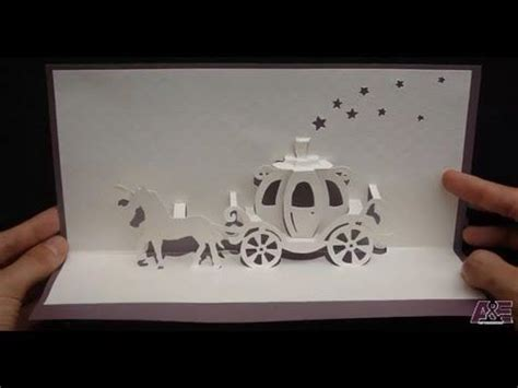 pop up cinderella carriage card template walt disney cinderella carriage card tutorial origamic