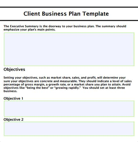 template for small business plan small business plan template 9 free documents