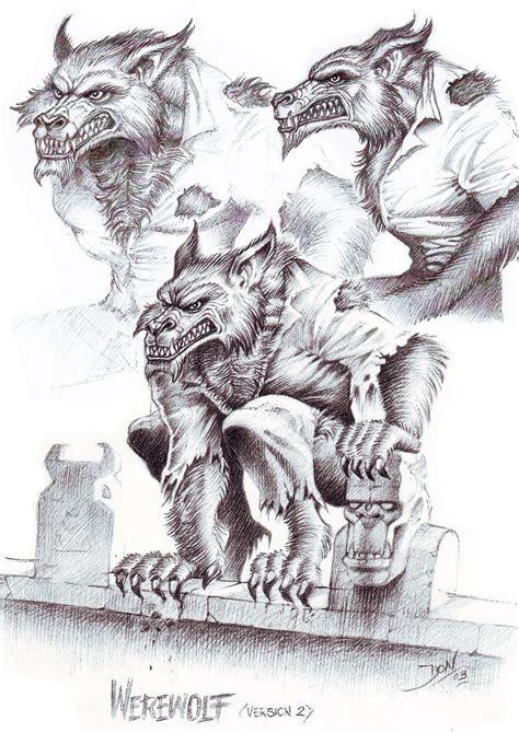 werewolf art tutorial werewolf concept drawing by donwazejewski on deviantart