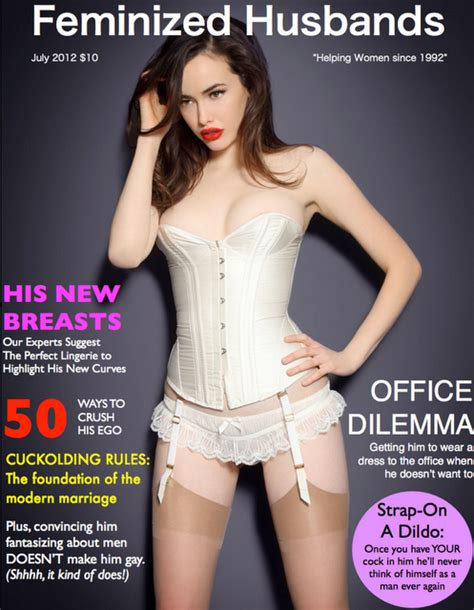 tg forced into corset tv erziehung feminisierung magazine covers just me
