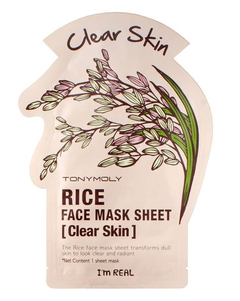 Tonymoly Im Real Mask by I M Real Mask Rice By Tonymoly