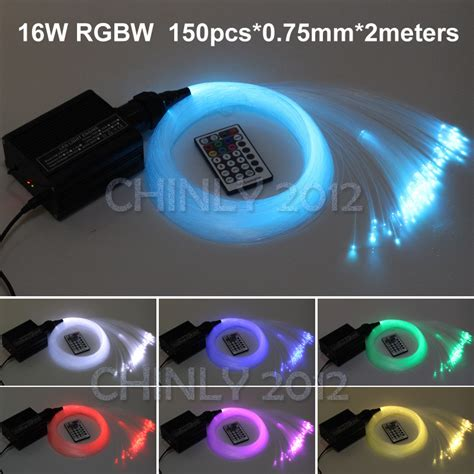 16w rgbw led fiber optic light ceiling kit lights