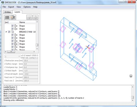 Drawing G Code Program by Dxf2gcode For Free Dxf2gcode Converting 2d Dxf