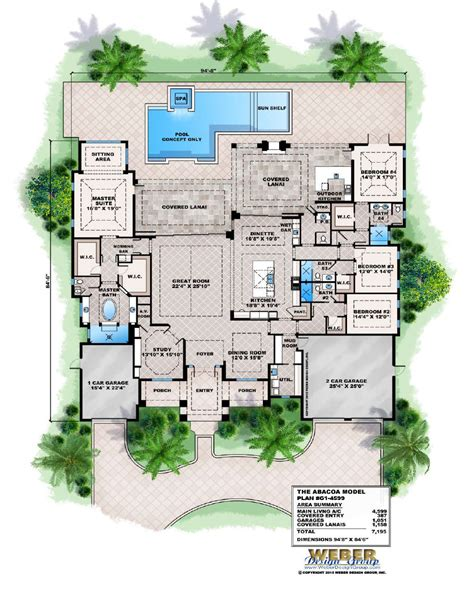 coastal home plans florida 8599