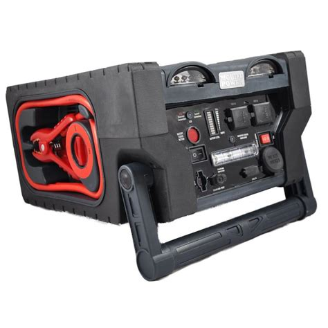 mobile power 15 in 1 12 volt battery jumpstart power beast system with built in 110 vac inverter