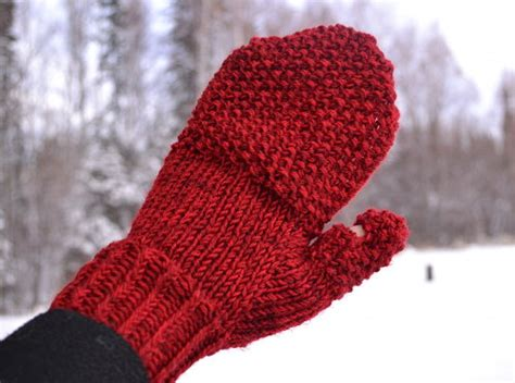 knitting pattern for mittens cozy convertible knit mittens yarn fix