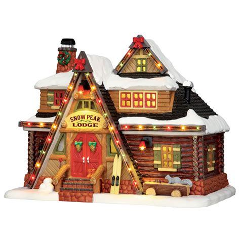 Lemax Snow Peak Lodge Lighted Building 55924 Lighted Villages