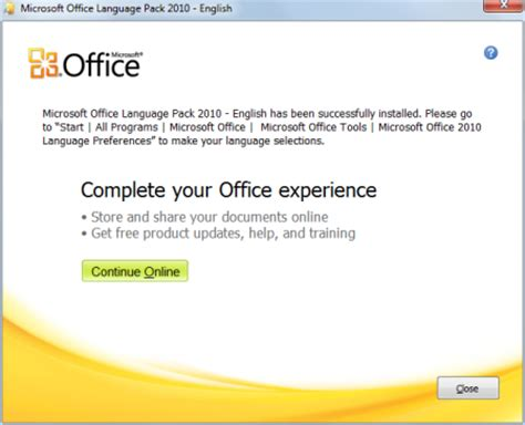 Microsoft Office Package Free Microsoft Office 2010 Language Pack Free