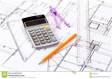 architect plans royalty free stock photo image 17856155