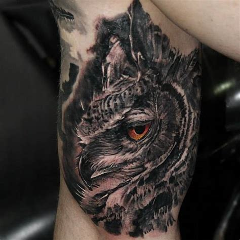 realistic owl tattoo design realistic owl tattoo on the right inner arm