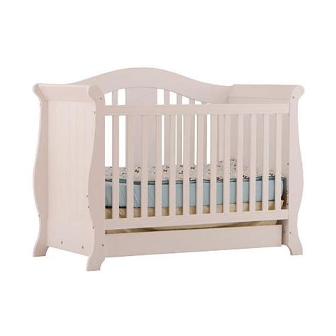 Stork Craft Vittoria 3 In 1 Fixed Side Convertible Crib The Vittoria 3 In 1 Fixed Side Convertible Crib By Stork Craft Offers A Classic Sleigh Design
