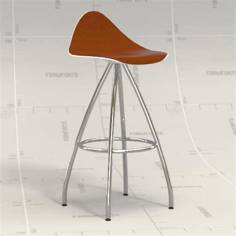 Onda Counter Stool onda counter stool 3d model formfonts 3d models textures