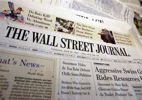 wall street journal real estate section wsj to introduce weekly real estate section talking biz news