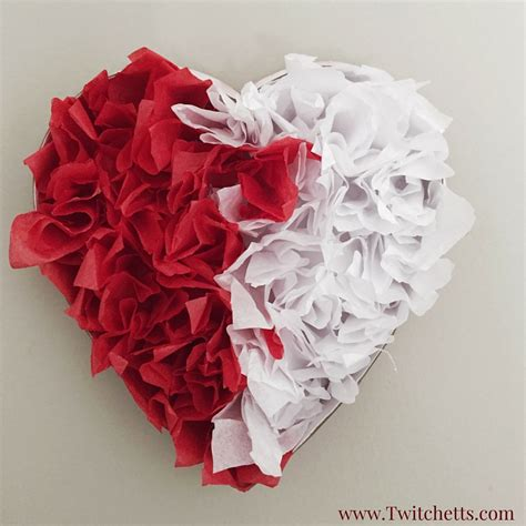 Craft Paper Hearts - tissue paper s day decorations twitchetts