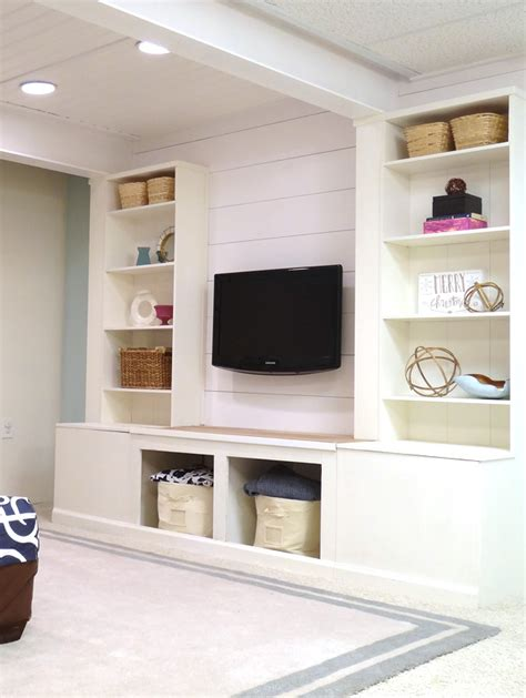 built in media cabinet designs remodelaholic diy built in media wall unit with extra