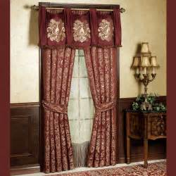 Palatial swag valance and window treatments