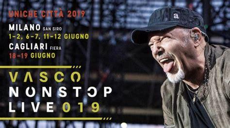 vendita biglietti vasco vasco in concerto a cagliari dal 21 dicembre 2018