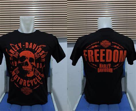 Kaos Harley Davidson Panjang kaos harley davidson skull freedom kaos harley