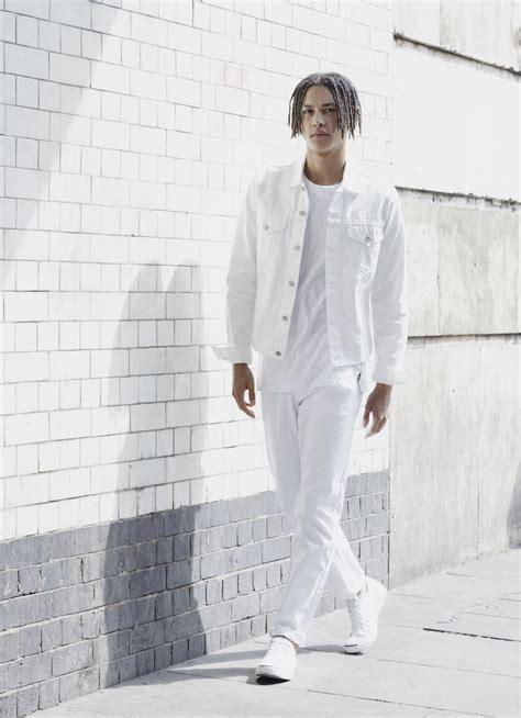 Navy Spray Crop Denim Jacket white what to wear with statement summer denim