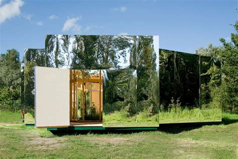 mirrored house outdoor pavilion design with mirrors modern house designs