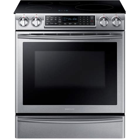 samsung induction range samsung 5 8 cu ft slide in induction range with technology in stainless steel