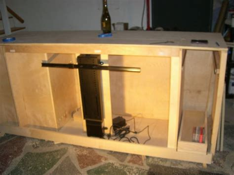 How To Make A Tv Lift Cabinet How To Build A Tv Lift Cabinet