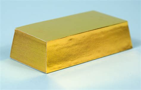 How To Make A Gold Bar Out Of Paper - chronicle gold bar at buyolympia