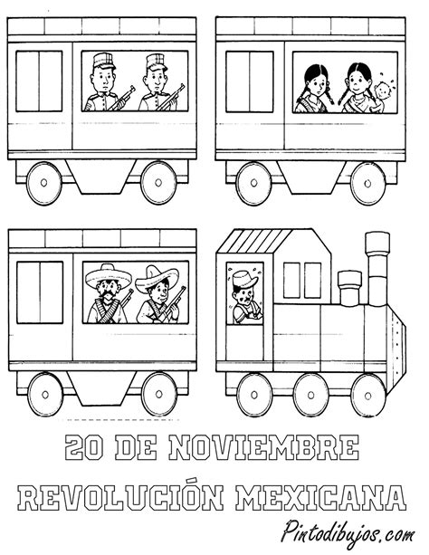 imagenes para colorear sobre la revolucion mexicana pinto dibujos 20 de noviembre para colorear ferrocarril