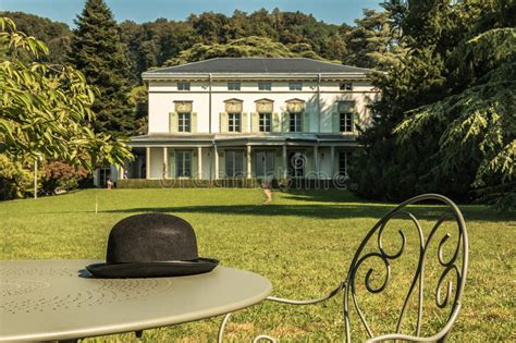 charlie chaplin house charlie chaplin s world museum in vevey switzerland editorial stock photo image
